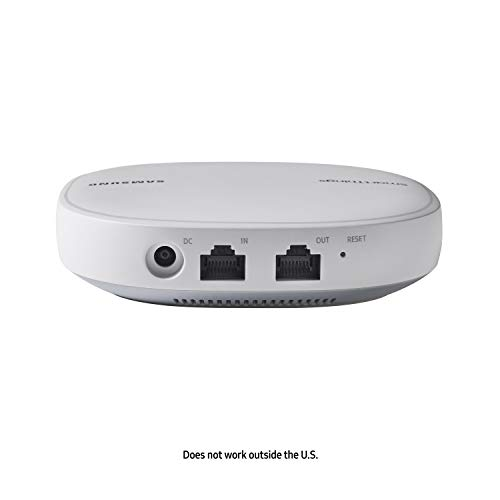 Samsung-SmartThings-Wifi-Mesh-Router-Range-Extender-SmartThings-Hub-Functionality-Whole-Home-WiFi-Coverage-Zigbee-Z-Wave-Cloud-to-Cloud-Protocols-White-Single