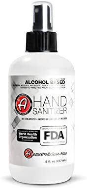 Adam's Hand Sanitizer – USA Made Hand Sanitizing Spray | 75% Isopropyl Alcohol by Quantity, Kills 99.9% of Germs, WHO Really helpful | Quick Appearing Antiseptic Disinfectant (Single)