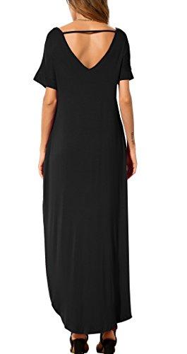 Long Dress Short Sleeve Split Maxi Dresses