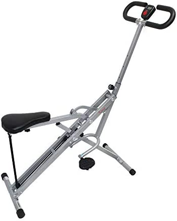 Sunny Health & Fitness Squat Assist Row-N-Ride Trainer for Squat Exercise and Glutes Workout 9
