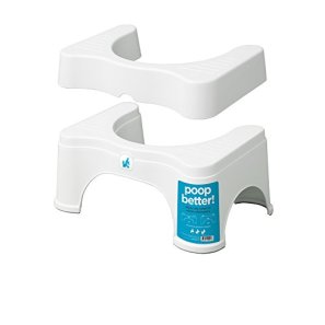 """Squatty Potty The Original Bathroom Toilet Stool - Adjustable 2.0, Convertible to 7"""" or 9"""" Height, White"""