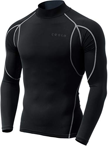 TSLA Men's Mock Long-Sleeved T-Shirt Cool Dry Compression Baselayer Top 1 Fashion Online Shop 🆓 Gifts for her Gifts for him womens full figure