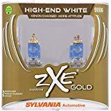SYLVANIA - 9006 (HB4) SilverStar zXe GOLD High Performance Halogen Headlight Bulb - Headlight & Fog Light, Bright White Light Output, Best HID Alternative, Xenon Charged Technology (Contains 2 Bulbs)