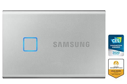 Samsung Galaxy Z Flip (Black, 8GB RAM, 256GB Storage)-Samsung T7 Touch 1TB USB 3.2 Gen 2 (10Gbps, Type-C) External Solid State Drive (Portable SSD) Silver (MU-PC1T0B) 6