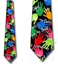 I love my Daddy Tie Fathers Day Neck Ties