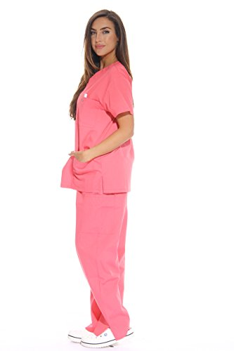 Simply Love Ladies's Coral Scrub Set – Further Small,Coral,X-Small deal 50% off 31dhA 2BvsdbL