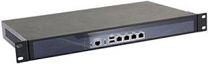 HUNSN Firewall, Mikrotik, Pfsense, VPN, Network Security Appliance,Router PC,Intel Atom D525,(Gray), RS02,[4 Intel Gigabit LAN/2USB2.0/1COM/1VGA/FAN],(4G RAM/128G SSD)