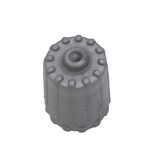 JESBEN 10pcs Gray TPMS Service Kit Tire Valve Stem Caps Tire Cap for Car Truck