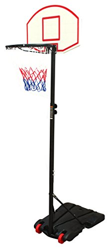 Movement God Youth Portable Basketball Hoop Black & Red