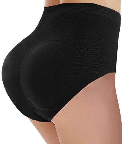 CeesyJuly Womens Padded Butt Lifter Body Shaper Hip Enhancing Panties Briefs Black