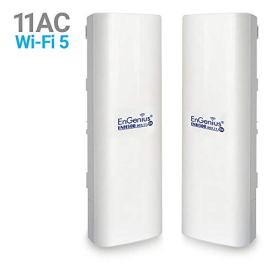 EnGenius-Technologies-ENH500v3-Wi-Fi-5-Wave-2-Outdoor-AC867-5GHz-Plug-n-Play-Wireless-CPEClient-Bridge-PTPPTMP-IP55-27dBm-with-16-dBi-High-Gain-Antenna-Long-Range-up-to-5-Miles-2-Pack