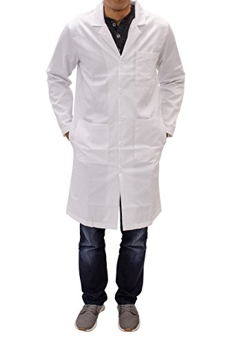 CollegeWear, Inc. Unisex Lengthy White Lab Coat - Chemistry, Biology, Science Scholar (M)  scrubs Store 31fE 2B 2Bt7Y2L