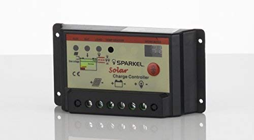 Sparkel 12V / 24V 10A Digital Solar Charge Controller With Dusk To Dawn Feature (SPSCC-110)