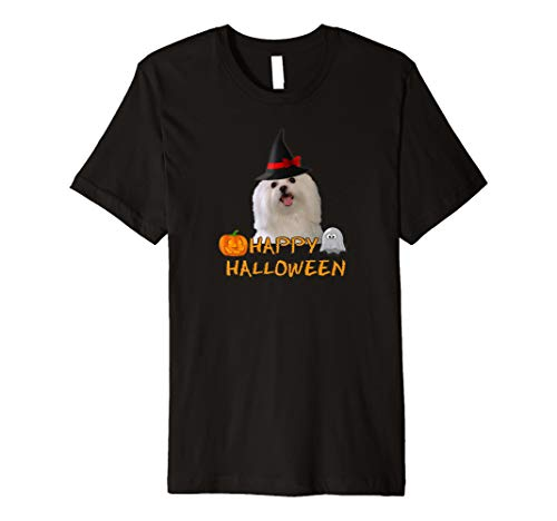 Maltese Dog Happy Halloween T-shirt Costume Witch Ghost