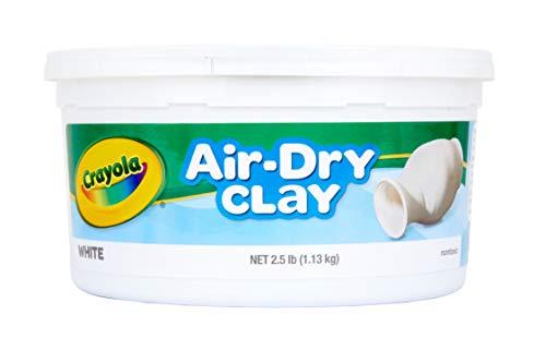 Crayola Air Dry Clay Bucket, White, 2.5 Pound