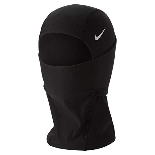 Nike Pro Hyperwarm Hood, One Size Fits Most, Adult (Black/White)
