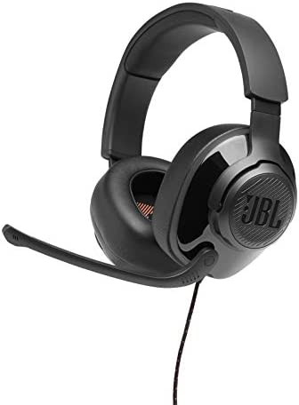 JBL Quantum 200 – Wired Over-Ear Gaming Headphones – Black