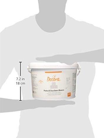 Decora Pasta di Zucchero, Classica Bianco - 5 kg