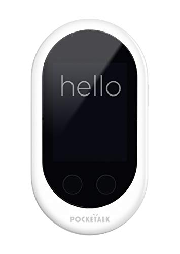 Pocketalk Two-Way Voice Translator with Built-in Data - White