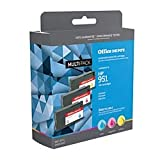 Office Depot Brand ODHP951CLR (HP 951 /CN050AN/CN051AN/CN052AN) Remanufactured Cyan/Magenta/Yellow Ink Cartridges, Pack of 3