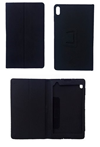 KANICT Tablet Leather Front & Back Flip Flap Case Cover for Lenovo Tab4 8 Plus TB-8704X (Black) 2