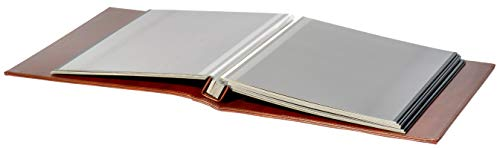Red-Co-Brown-Faux-Leather-Photo-Album-with-Self-Adhesive-Black-Sheets--Hold-Up-to-8x10-Prints