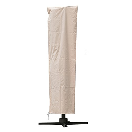 C-Hopetree Offset Cantilever Umbrella Protective Storage Cover Suits 9 to 11 Feet Hanging Outdoor Patio Umbrella, Water Repellent, Beige