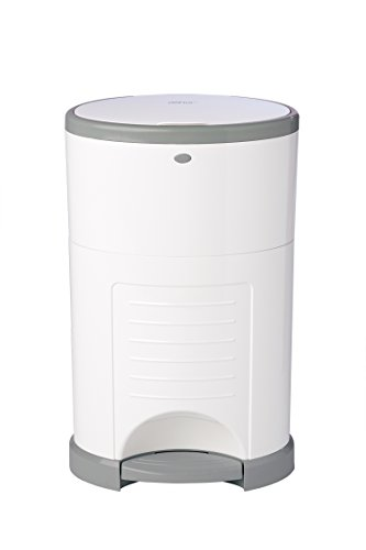 Dekor Classic Hands-Free Diaper Pail | Easiest to Use | Just Step – Drop – Done | Doesn't Absorb Odors | 20 Second Bag Change | Most Economical Refill System | White