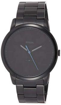 Fossil Men's The Minimalist Quartz Stainless Steel Dress Watch, Color: Black (Model: FS5308)