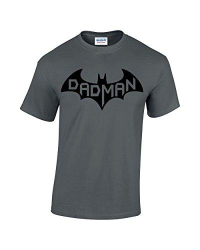 CBTWear Dadman - Super Dadman Bat Hero Funny Premium Men's T-Shirt (Medium, Charcoal)