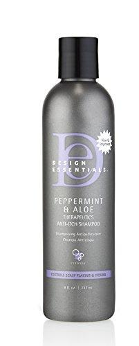 Design Essentials Peppermint & Aloe Therapeutics Anti-Itch Shampoo For Instant Scalp and Dandruff Relief - 8 Oz