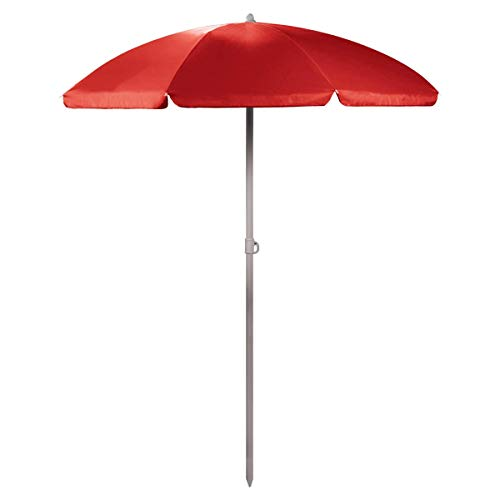 ONIVA - a Picnic Time Brand Outdoor Canopy Sunshade Umbrella 5.5', Red