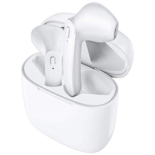 31jrFZJ3IAL MARVIK Growth Growth Bluetooth 5.zero True Wi-fi Earbuds, 5 H Cyclic Playtime Waterproof TWS Headphones with Charging Case and mic, in-Ear Stereo Earphones Headset