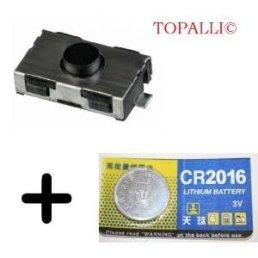 Lot-2-switch-original-1-pile-Pour-bouton-cl-tlcommande-plip-Peugeot-206-107-307-406-Citroen-C3-C2-TOPALLI