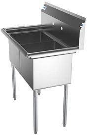 KoolMore-SB151512-N3-2-Compartment-Stainless-Steel-NSF-Commercial-Kitchen-Prep-Utility-Sink-Bowl-Size-15-x-15-x-12-Silver
