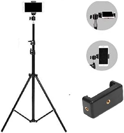 Ionix Made in India 2.1 Meters High Mobile Tripod Stand with Mobile Holder, Tripod Stand, Mobile Tripod Stand Stand for Phone and Camera Adjustable Aluminium Alloy Mobile Tripod Stand