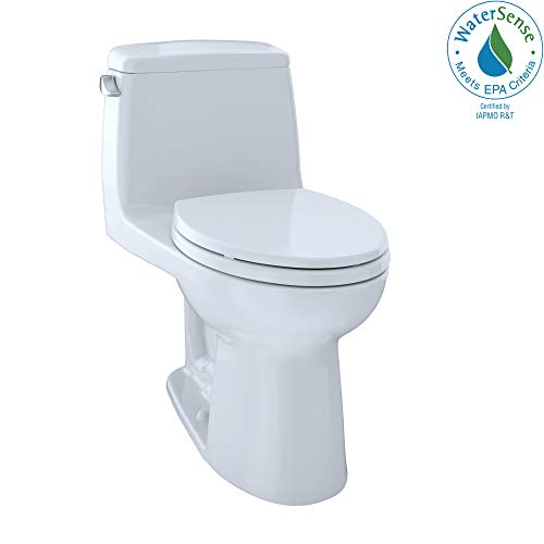 TOTO MS854114EL#01 Eco Ultramax ADA Elongated One Piece Toilet, Cotton White