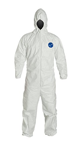 DuPont – TY127SWHMD0025VP Tyvek 400 TY127S Individually Packed Disposable Protecting Coverall with Hood and Elastic Cuff for PPE Merchandising Machines, White, Medium (Retail Pack of 1)
