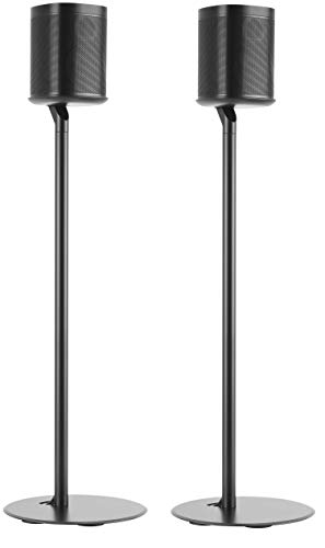 ynVISION Floor Stand for Sonos One and Play:1 Speaker   2 Pack   YN-ONE Pair (Black)