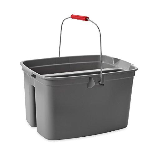 Rubbermaid Commercial Double Pail Plastic Bucket, 19 Quart, Gray, FG262888GRAY