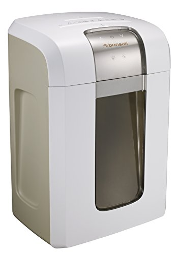 Bonsaii EverShred Pro 3S30 Heavy duty 18-Sheet Cross-Cut Paper/CD/Credit Card Shredder ,Quiet Operation ,7.9 Gallons Wastebasket with 240 Minutes Running Time, White