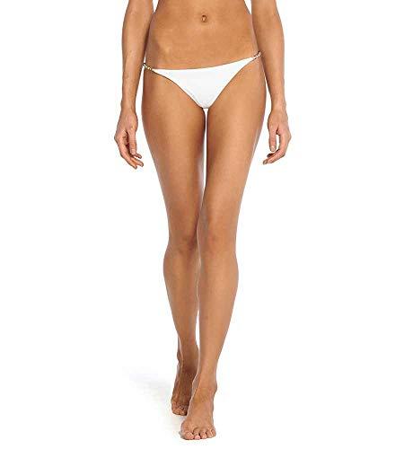 413bVtloBPL Designer: Vix Swimwear Collection: White Name: White Cleo Tab Side Hipster Bikini Bottom