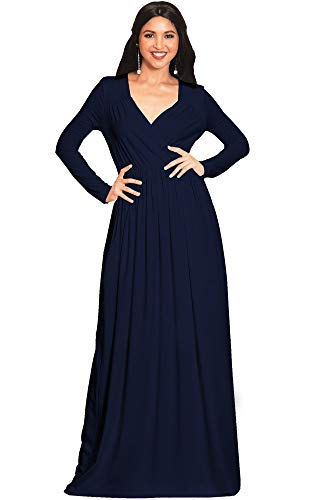 PLUS SIZE - This great maxi dress design is also available in plus sizes STYLE - Comfortable and well-fitted long sleeved maxi dresses that can be dressed up or down to suit your mood OCCASION - Perfect casual maxi dresses with sleeves or understated chic long sleeved gowns