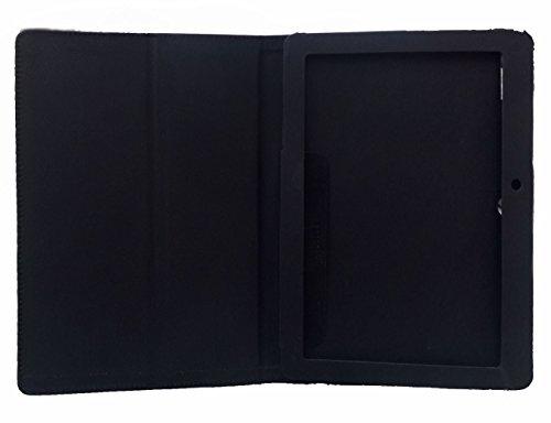 KANICT Tablet Leather Front & Back Flip Flap Case Cover for Lenovo Tab 2 A10-70 (Black) 3