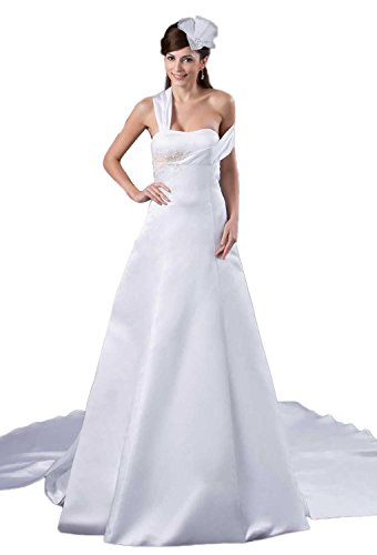 51SSFdXLA5L Satin wedding dresses Built-in bra. Dry clean only. Custom-made, Color-change Available