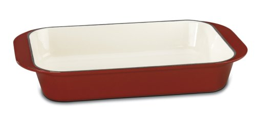 Cuisinart CI1136-24CR Chef's Classic Enameled Cast Iron 14-Inch Roasting/Lasagna Pan, Cardinal Red