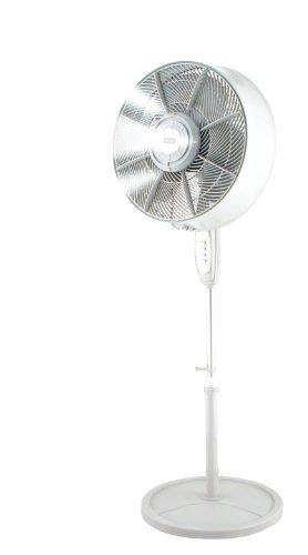 KUL Oscillating Outdoor Misting Fan 3-Speed Misting Fan 16' White