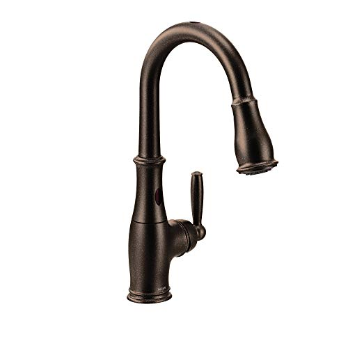 Moen 7185EORB Brantford Motionsense Two-Sensor Touchless One-Handle High Arc Pulldown Kitchen Faucet Featuring Reflex, Oil-Rubbed Bronze