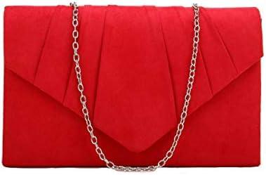 Nodykka Purses and Handbags Envelope Evening Clutch Crossbody Bags Velvet Classic Wedding Party Shoulder Bag for Women