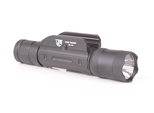Ozark Armament 600 Lumen Rifle Light with Remote Pressure Switch - Constant and Strobe Modes - Picatinny Rail Mount